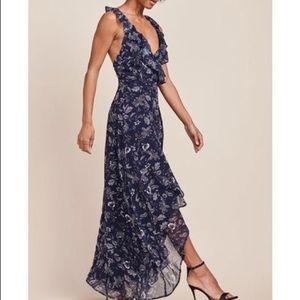 BB Dakota Kelli Floral Print High-Low Wrap Dress